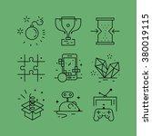 set of line vectors icons in... | Shutterstock .eps vector #380019115