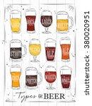 poster beer main types  lager ...   Shutterstock .eps vector #380020951
