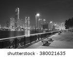 seaside promenade of harbor in...   Shutterstock . vector #380021635