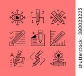 set of line vectors icons in... | Shutterstock .eps vector #380023225