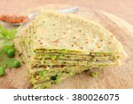 Indian Food Slices Of Paratha ...