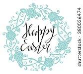 happy easter card design... | Shutterstock .eps vector #380026474