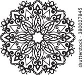 isolated mandala.henna tattoo | Shutterstock . vector #380027845
