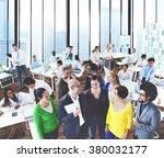 business people conversation... | Shutterstock . vector #380032177