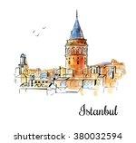 vector sketchy illustration... | Shutterstock .eps vector #380032594