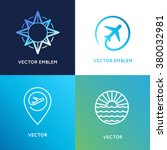 vector logo design templates in ... | Shutterstock .eps vector #380032981