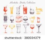 vector set of vintage alcoholic ... | Shutterstock .eps vector #380034379