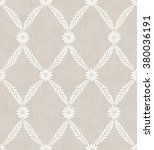 seamless damask pattern in beige | Shutterstock .eps vector #380036191