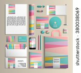 colorful corporate identity... | Shutterstock .eps vector #380038069