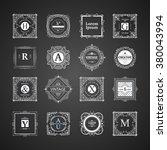 monogram luxury logo template... | Shutterstock .eps vector #380043994