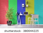 Colored Wall In Home Office...
