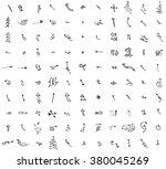 vector hand drawn arrows set... | Shutterstock .eps vector #380045269