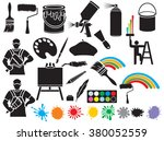 painting icons collection ... | Shutterstock .eps vector #380052559