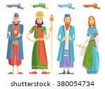 jewish festival of purim. book... | Shutterstock .eps vector #380054734