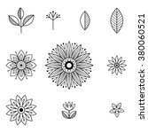 doodle art flowers. hand drawn... | Shutterstock .eps vector #380060521