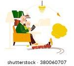 favorite grandfather | Shutterstock .eps vector #380060707
