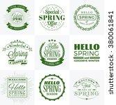 set of spring vintage... | Shutterstock .eps vector #380061841