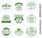 set of spring vintage... | Shutterstock .eps vector #380061865