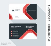 Creative and Clean Business Card Template. Flat Design Vector Illustration. Stationery Design | Shutterstock vector #380063341