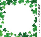 vector green shamrock leaves... | Shutterstock .eps vector #380063785