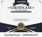 certificate template vector... | Shutterstock .eps vector #380066425