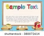 certificate template with... | Shutterstock .eps vector #380072614