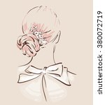 beautiful hair accesories for... | Shutterstock .eps vector #380072719