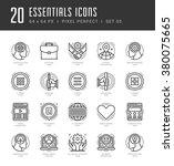 line icons set. trendy modern... | Shutterstock .eps vector #380075665