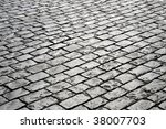 closeup of block pavement  as a ... | Shutterstock . vector #38007703