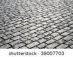closeup of block pavement  as a ... | Shutterstock . vector #38007703