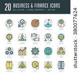 line icons set. trendy modern... | Shutterstock .eps vector #380077624