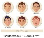 men face shape | Shutterstock .eps vector #380081794