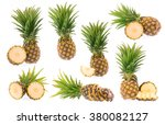 collection pineapple with... | Shutterstock . vector #380082127