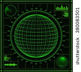radar screen with planet and...