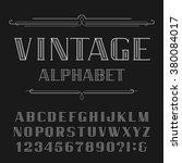 vintage alphabet vector font.... | Shutterstock .eps vector #380084017