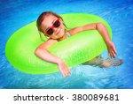 portrait of cute happy little... | Shutterstock . vector #380089681