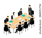 business meeting in an office... | Shutterstock .eps vector #380091754