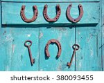 Two Rusty Iron Antique Keys An...