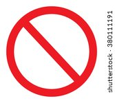 not allowed sign  no sign... | Shutterstock .eps vector #380111191