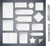 set of white paper sheets mock... | Shutterstock .eps vector #380111389