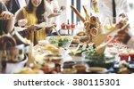 buffet dinner dining food...   Shutterstock . vector #380115301