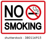 no smoking sign | Shutterstock .eps vector #380116915