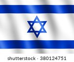 flag of israel waving in the... | Shutterstock . vector #380124751