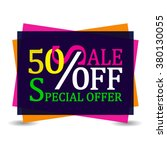 sale 50 off discount tag... | Shutterstock .eps vector #380130055