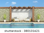Garden With Stone Wall ...