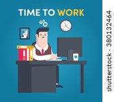 illustrations flat businessman... | Shutterstock .eps vector #380132464