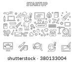 vector line design concept web... | Shutterstock .eps vector #380133004