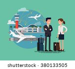 business trip cool flat... | Shutterstock .eps vector #380133505
