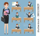 set of businesswoman charactor... | Shutterstock .eps vector #380133829