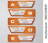 design clean number banners... | Shutterstock .eps vector #380134849
